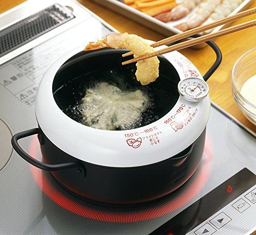 天ぷら鍋 温度計付き 日本製 あげた亭 20cm SH9257 6枚目のサムネイル
