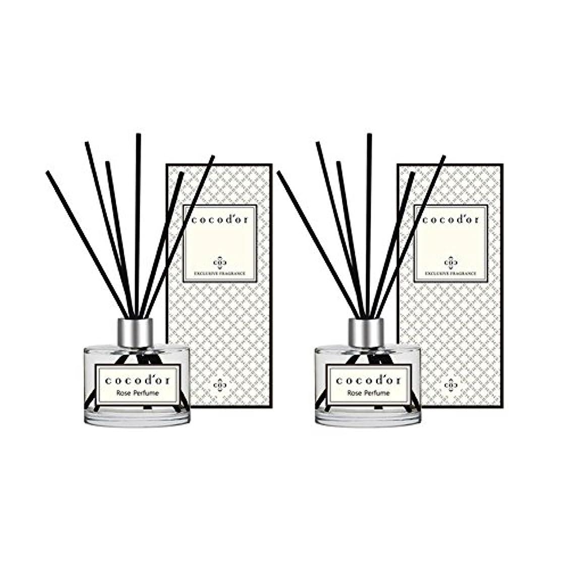排出マンモス遺棄された(ココドール) COCODOR リードディフューザー本品2個(400ml) (ローズパフューム) [並行輸入品]