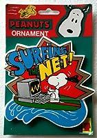 """Peanutsクリスマスツリーオーナメントスヌーピー""""サーフィンThe Net」5"""" Tall"""