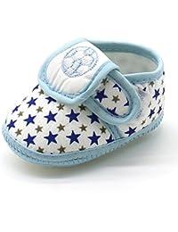 Kukiwa星とサッカー刺繍の様式 ベビー靴 超可愛い 柔らかい 赤ちゃん靴 学步靴 滑め防ぐ靴 室内履き シューズ女の子 ホームシューズ 可愛い子供靴 女の子 履き脱ぎやすい 出産の祝い 誕生日プレゼント