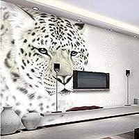Bzbhart 現代のファッションヒョウヒョウリビングルームテレビの背景壁カスタム大型壁画緑の壁紙-350cmx245cm