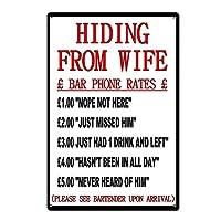 妻から隠れて 金属スズヴィンテージ安全標識警告サインディスプレイボードスズサインポスター看板建設現場通りの学校のバーに適した