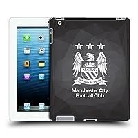 オフィシャルManchester City Man City FC ブラック・ジオメトリック フルブラック クレスト・ジオメトリック ハードバックケース Apple iPad 3 / iPad 4