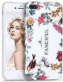 Imikoko iPhone7 iPhone8 Plus ケース アイフォン 7/8 プラスケース スマホケース case 保護カバー 花柄 おしゃれ 人気 かわいい ソフト 女子 携帯 (iPhone7 Plus 5.5, 春の花)