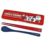 大西賢製販 Peanuts Snoopy ハシ&スプーン セット チーム レッド 19.5cm スヌーピー SLW-1003
