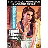 [価格改定] Grand Theft Auto V (日本語版) + 犯罪事業スターターパック+ Megalodon Shark Cash Card (GTAマネー $8,000,000) Pack|オンラインコード版