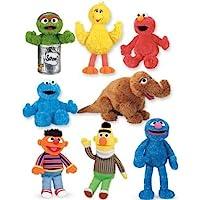 Sesame Street (セサメストリート) 8 dolls, Bert, Ernie, Cookie, Grover, Big Bird, Oscar, Elmo & Snuffy ドール 人形 フィギュア(並行輸入)