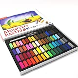 Mungyo ムンギョ Non Toxic Square Chalk, ソフト Pastel, 64 Pack, Assorted Colors [並行輸入品]