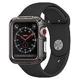 【Spigen】 Apple Watch Series 3 / Series 2 (42mm) [ TPU ケース ] [ 米軍MIL規格取得 ] [ 落下 衝撃 吸収 ] タフ・アーマー アップルウォッチ シリーズ 3 / 2 対応 カバー (42mm, ガンメタル)