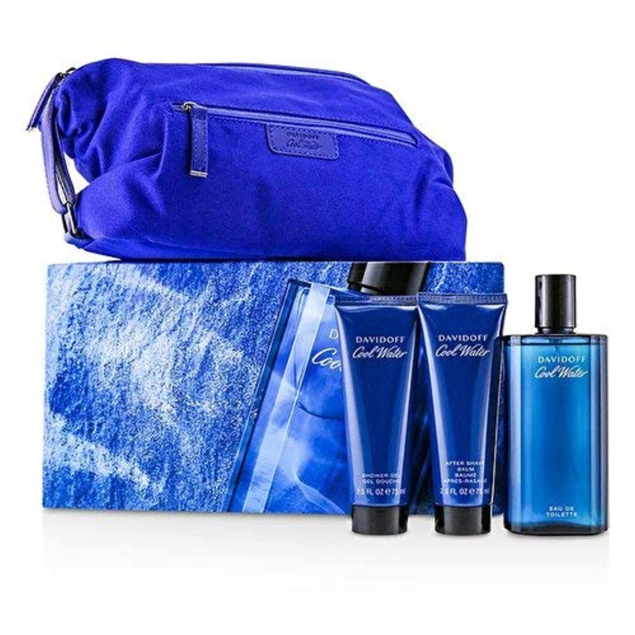 歯痛注釈を付ける自宅でダビドフ Coolwater Coffret: Eau De Toilette Spray 125ml/4.2oz + After Shave Balm 75ml/2.5oz + Shower Gel 75ml/2.5oz...