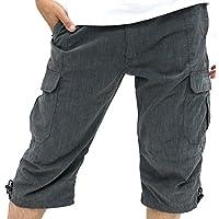 Hanes(ヘインズ) ショートパンツ リラックス カーゴ イージーパンツ 7分丈 メンズ ミディアムグレー L