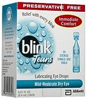 BLINK TEARS SINGLE USE VIALS Size: 25 0.01 fl oz or 0.4 mL