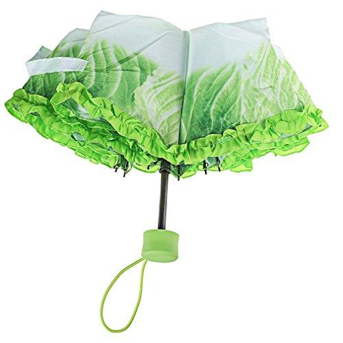 A-SZCXTOP 白菜傘 折りたたみ傘 8本骨3段折り 面白いデザイン 可愛い 晴雨兼用 軽量 携帯に便利 プレゼントに最適