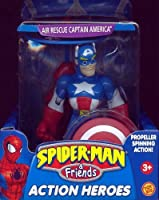 Spider-Man & Friends Air Rescue Captain America Action Heroes Figure [並行輸入品]