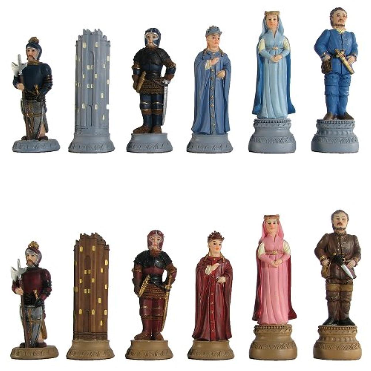 触覚含める付添人Medieval Hand Painted Polystone Chess Pieces