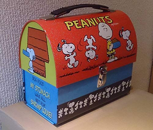 直輸入 Peanuts ピーナッツ Snoopy スヌーピー 米国VANDOR社製 ブリキ ランチボックス ドーム型デッドストック2000年前後