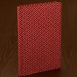 日本能率協会 (JMAM) 甲州印傳上原勇七×NOLTY TOOLS B6本革手帳カバー(赤地 菱菊)