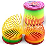 Kanzd Kids Magic Slinky Rainbow Bounce Fun Toy Plastic Colorful Educational Toy