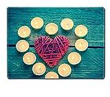 MSDプレースマットイメージ35891240油彩画風景テラス海の近くの花 WXAEAEcaSA_CANDLELIGHT HEART IM_740