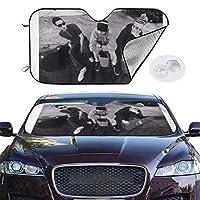 サンシェード ビースティー ボーイズ Beastie Boys 日よけ用品 車のフロントガラスサ るサンバイザープロテクター 紫外線をブロックす 遮光 遮熱 保護する 車 プライバシーを 自動伸縮 吸盤取付 SUV