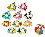 ヨーヨーコレクション カラフルフィッシュ(10種アソート)【パンチボール】  / お楽しみグッズ(紙風船)付きセット [おもちゃ&ホビー]