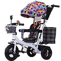 YUMEIGE 子供用三輪車 子供の三輪車の精密鋼鉄1-6歳の誕生日の子供のギフトの幼児のベビーカーのトライクの負荷重量80のKg 得ることができます (色 : White gray)