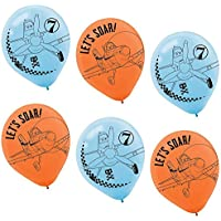 Amscan DisneyPlanes 2 Birthday Party Printed Balloons Decoration, 30cm, Blue/Orange
