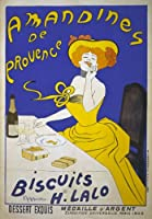 "AV52 Vintage French Amandines de Provence Biscuits Advertisement Poster Re-Print - A1 (841 x 610mm) 33"" x 24"""
