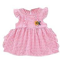 Rad子供 夏子供女の子フレアスリーブチュチュドレスチェック柄プリンセスサンドレス服