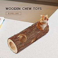 AWHAO ハムスター用品 噛みおもちゃ 遊び道具 運動不足解消 ペット噛む玩具 パイプおもちゃ M