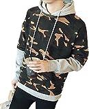 kimurea select (キムレアセレクト) メンズファッション カモフラ カモフラージュ 柄 フード付き プルオーバー パーカー 長袖 上着 迷彩服 アウター 大きいサイズ (M, グレー)