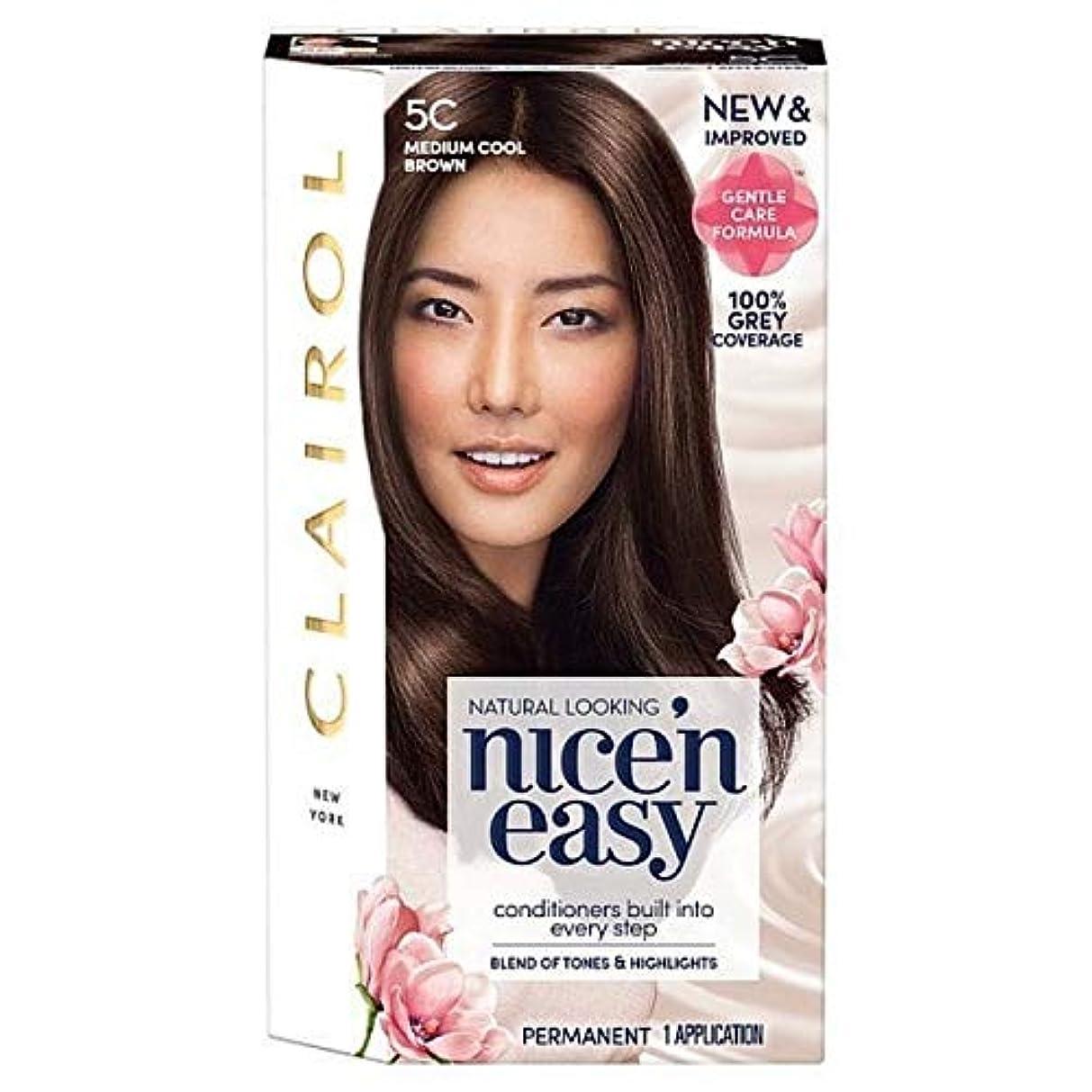 ステーキオート切る[Nice'n Easy] Nice'N簡単な図5C媒体クールブラウン - Nice'n Easy 5C Medium Cool Brown [並行輸入品]