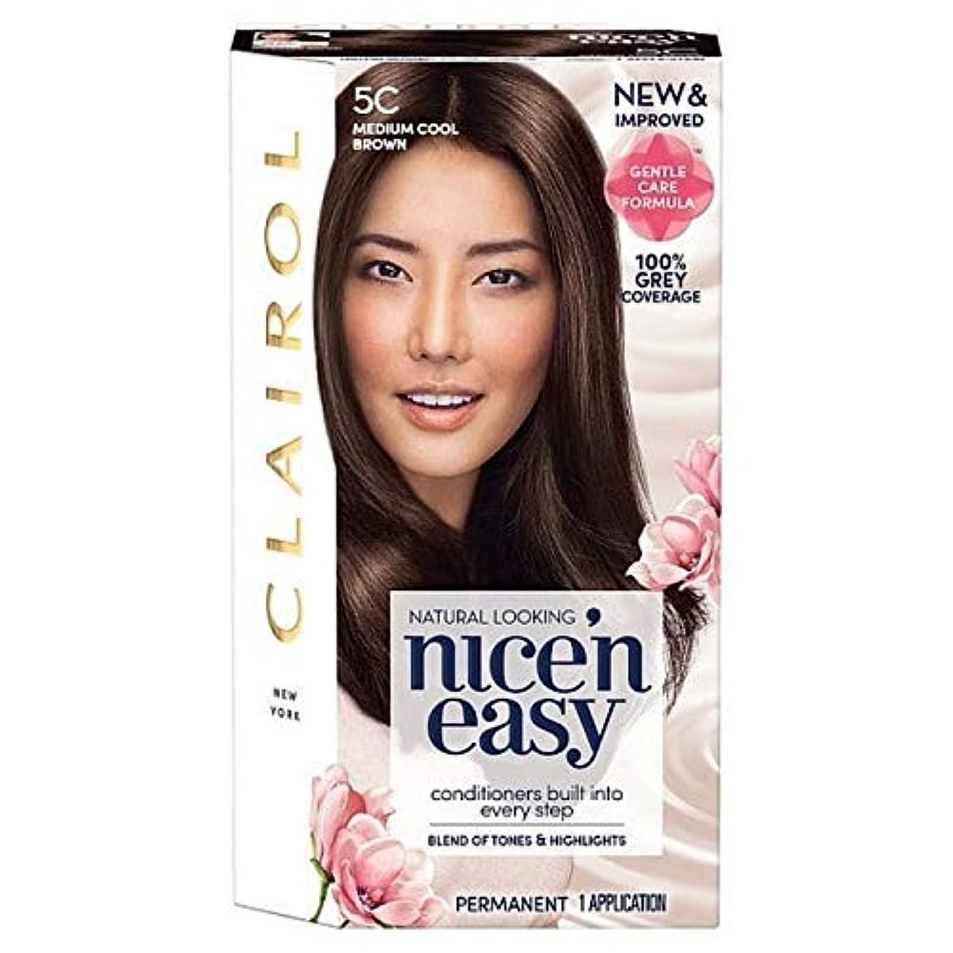 トーク排他的ロボット[Nice'n Easy] Nice'N簡単な図5C媒体クールブラウン - Nice'n Easy 5C Medium Cool Brown [並行輸入品]