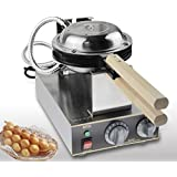 Changlong instrumentテつョ FY-6D Electric Non-stick Eggettes Bubble Waffle Maker Egg waffle maker Puff Bubble Waffle...