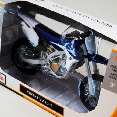 [ Maisto ] 1/ 12Yamaha yz450F ( Blue )モトクロスバイク/ヤマハ/オフロード/ 1: 12/ホワイト