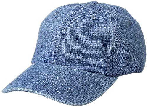 (ニューハッタン) NEWHATTAN CAP キャップ ベースボールキャップ 帽子 無地 カーブキャップ (FREE, LIGHT DENIM) [並行輸入品]