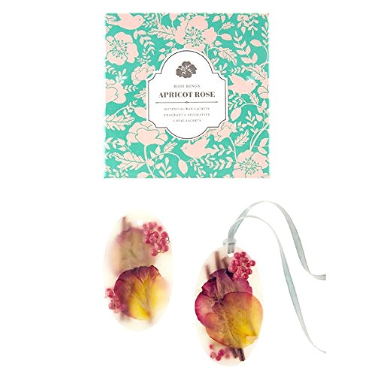 壁紙並外れてバンジージャンプロージーリングス ボタニカルワックスサシェ オーバル アプリコット&ローズ ROSY RINGS Signature Collection Botanical Wax Sachets – Apricot Rose