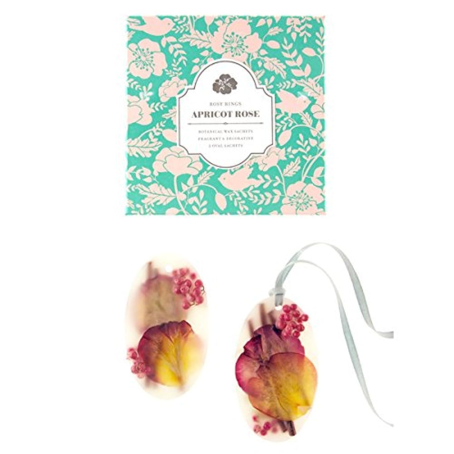 崩壊誠意失望ロージーリングス ボタニカルワックスサシェ オーバル アプリコット&ローズ ROSY RINGS Signature Collection Botanical Wax Sachets – Apricot Rose