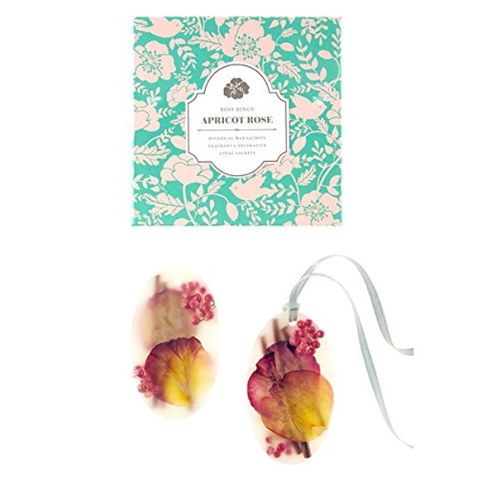 永久ドアミラーシャトルロージーリングス ボタニカルワックスサシェ オーバル アプリコット&ローズ ROSY RINGS Signature Collection Botanical Wax Sachets – Apricot Rose
