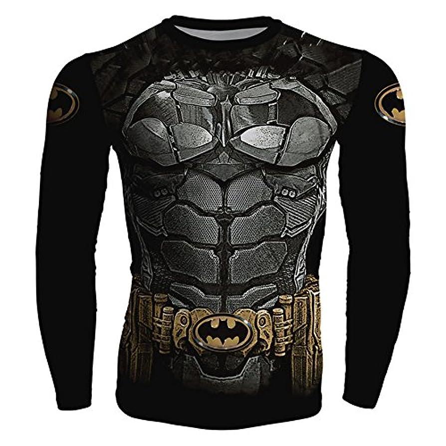 多用途速記小麦粉NINI バットマン スポーツ tシャツ 運動tシャツ 吸汗速乾 長袖tシャツ 3D高品質 プリントtシャツ