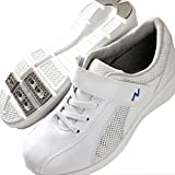 Blancエアー ナースシューズ ホワイト 足裏通気孔と弾んで歩ける高反発靴底 ゴム紐スニーカー 白 23.5cm