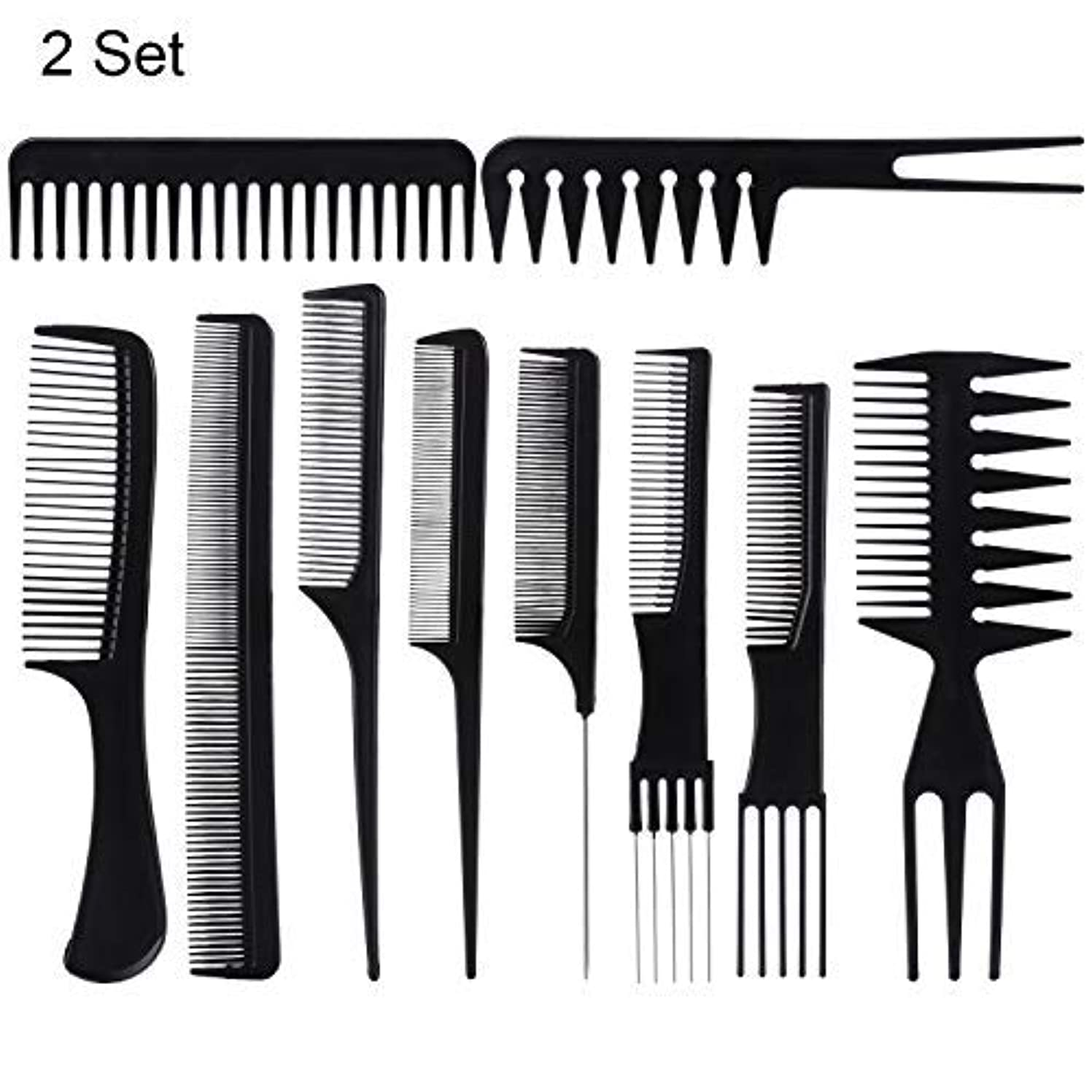 拒否ぴかぴか着服20 Piece Professional Styling Comb Set for Making hair style [並行輸入品]