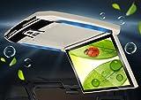 12.1インチフリップダウンモニター ベージュイエロー 超薄型設計 IRヘッドホン対応 空気清浄機能 電源記憶 FMTL0152
