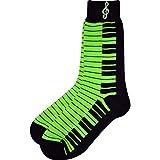 ネオンカラー 鍵盤 キーボード 靴下 SOCKS KEYBOARD NEON LADIES SIZES 9-12(レディース) (緑)