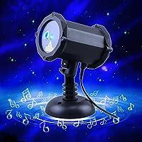 PoelandレーザープロジェクターライトBluetoothスピーカーとLEDブルー星雲ライトSuitable for寝室装飾家族、パーティー、KTV、子供ダンスホール、クラブ、バー、パーティー、ダンスフロア