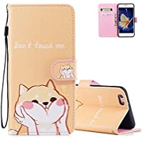 iPhone 6 Case 6S Wallet Case iPhone 6/6S Protective Case Aeeque Slim Fit Shockproof Credit Card Holder Phone Cases Bumper Pocket for iPhone 6 iPhone 6S with Wrist Strap Kickstand Shiba Inu [並行輸入品]
