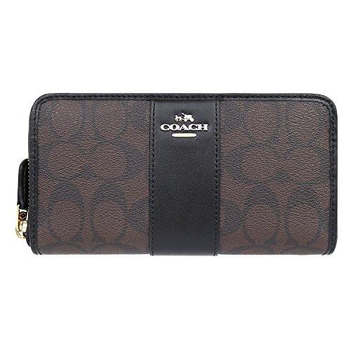 [コーチ] COACH 財布 (長財布) F54630 ブラウン×ブラック シグネチャー 長財布 レディース [アウトレット品] [並行輸入品]