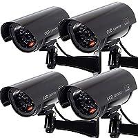 ダミーセキュリティカメラ 4 pack black ブラック SC-5632