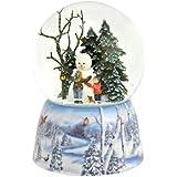 Roman Inc。冬Mountain Trainシーン100 mm – Musical Snow Globe Glitter Dome Glitterdome 39322-sno