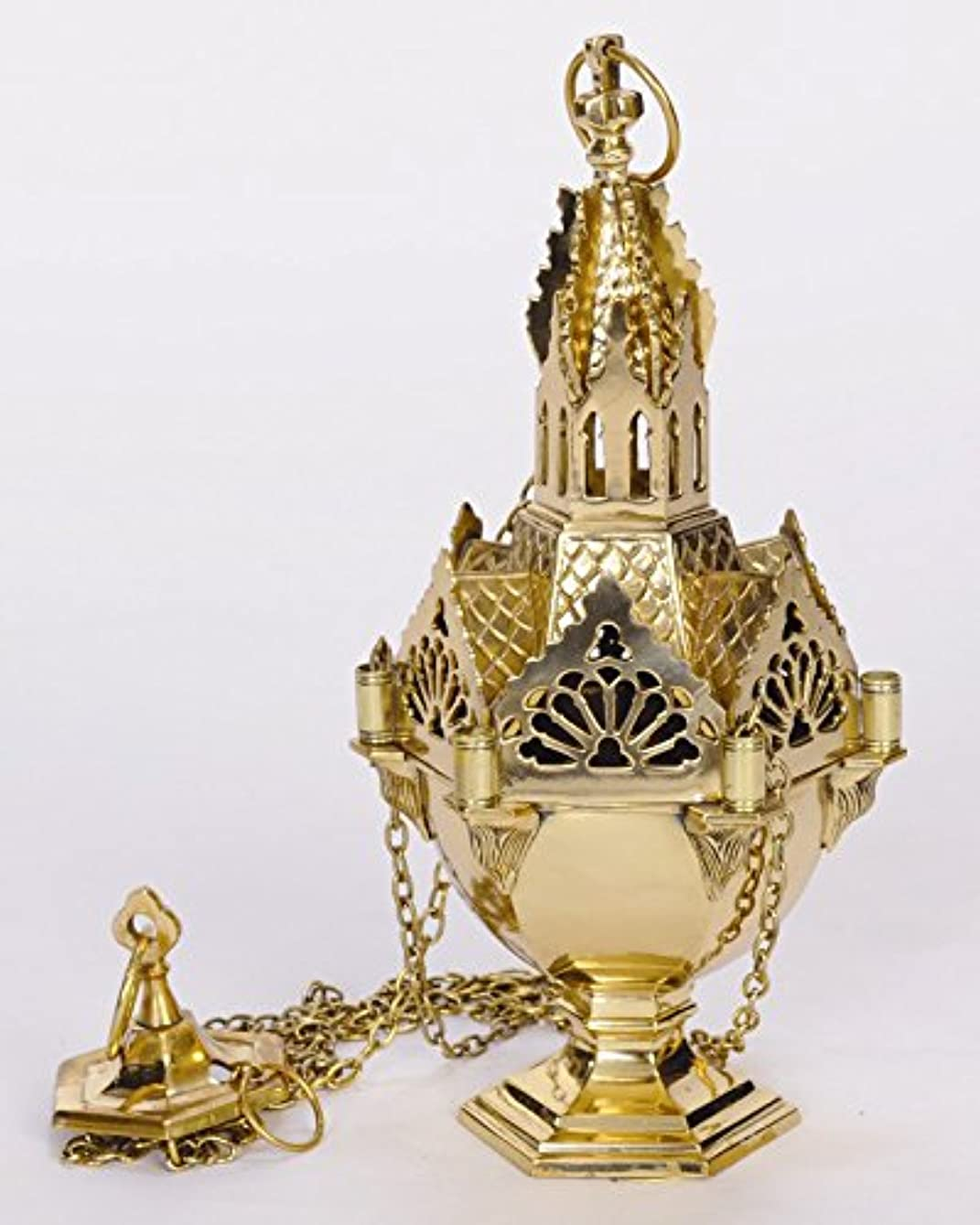 半ば半ば凝視Ornateゴシック教会Censer – Thurible – Incenser – Chalice ( ccg-59 )